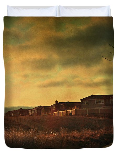 Walking Alone Duvet Cover by Laurie Search
