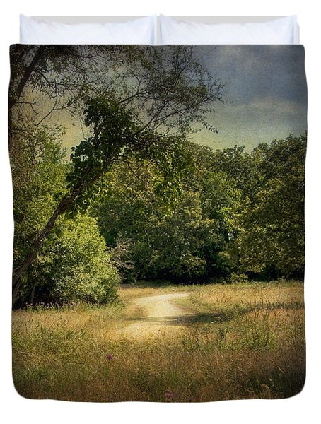 Wandering Path I Duvet Cover by Tamyra Ayles