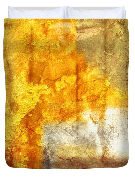 Warm Abstract Duvet Cover by Brett Pfister