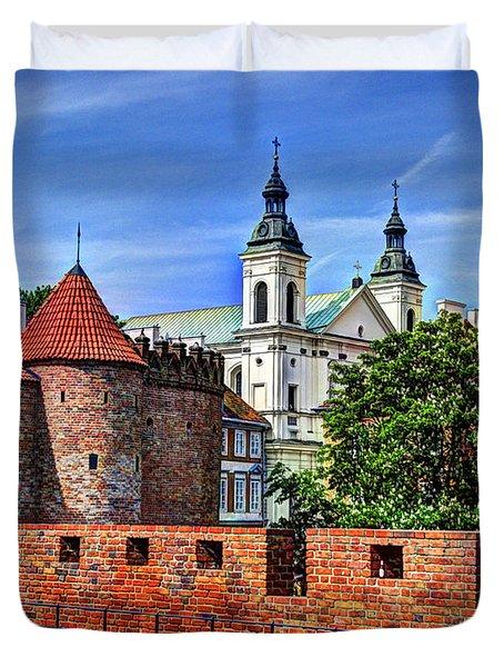 Warsaw Church Duvet Cover by Jon Berghoff