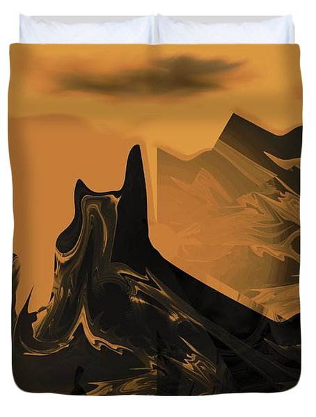 Wastelands Duvet Cover by Maria Urso