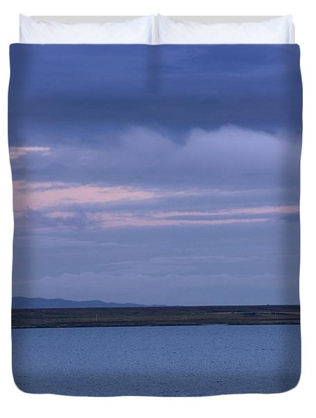 Water And Dark Clouds Duvet Cover by John Short