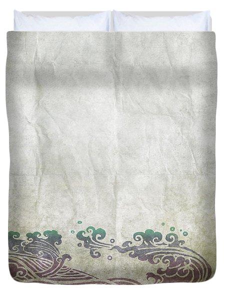 Water Pattern On Old Paper Duvet Cover by Setsiri Silapasuwanchai