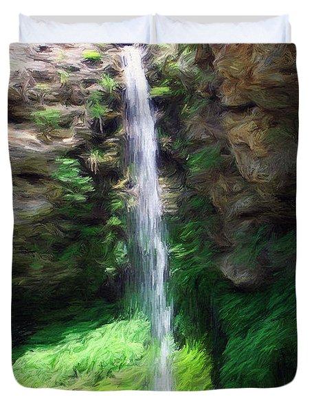 Waterfall 2 Duvet Cover by Jeff Kolker