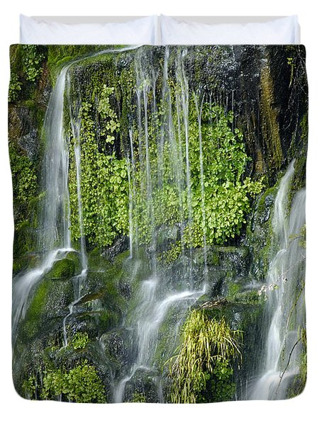 Waterfall At Columbia River Washington Duvet Cover by Ted J Clutter and Photo Researchers
