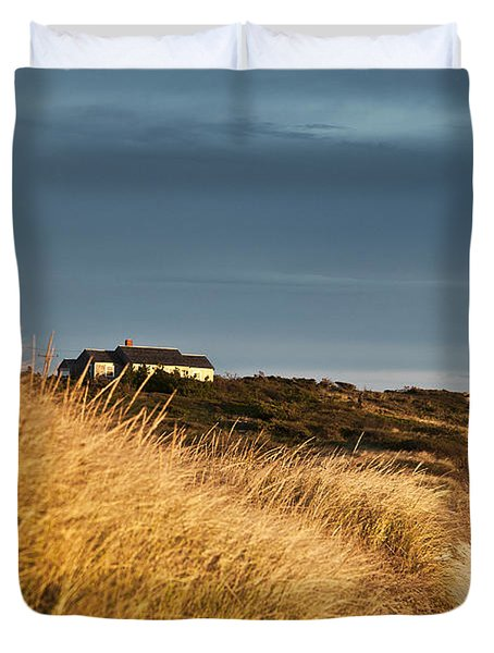 Waterfront Beach Cottage Duvet Cover by John Greim