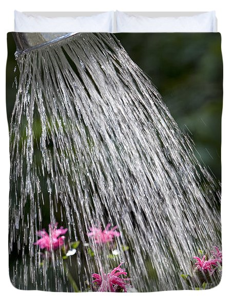 Watering Can Duvet Cover by Picture Partners and Photo Researchers