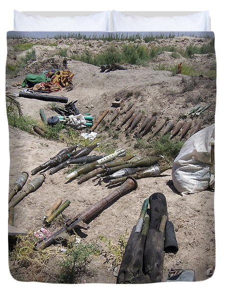 Weapons Caches Duvet Cover by Stocktrek Images