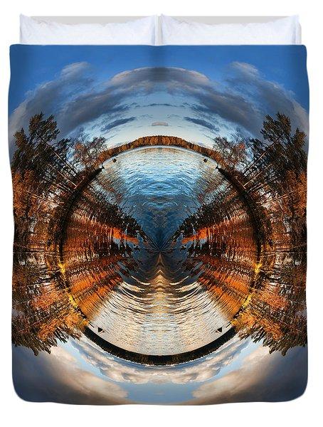 Wee Lake Vuoksa Twin Islands Duvet Cover by Nikki Marie Smith