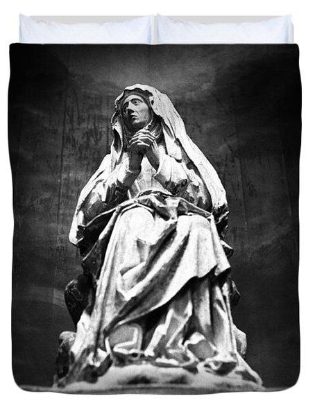 Weeping Madonna Duvet Cover by Gaspar Avila