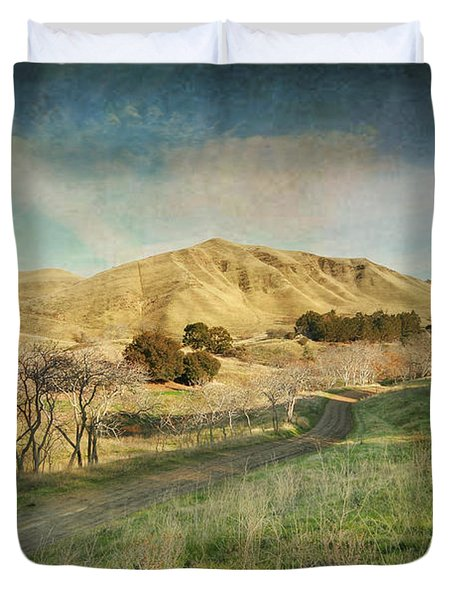 We'll Walk These Hills Together Duvet Cover by Laurie Search