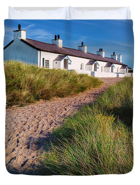Welsh Cottages Duvet Cover by Adrian Evans