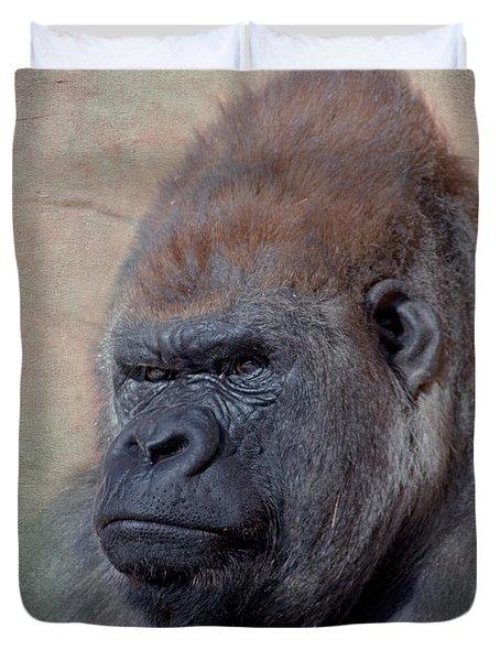 Western Lowland Gorilla Duvet Cover by Betty LaRue