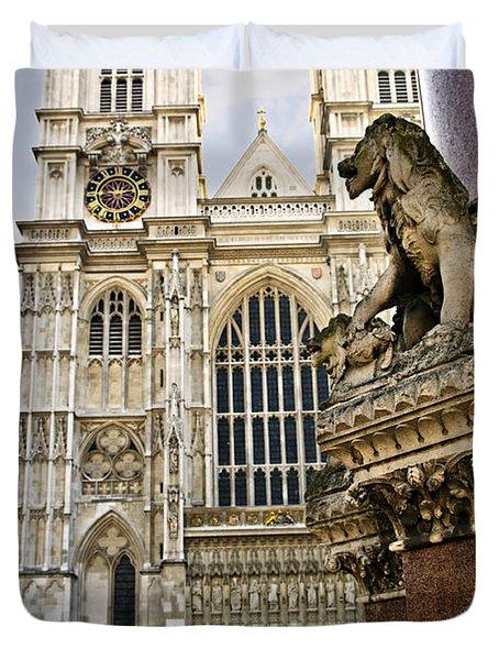 Westminster Abbey Duvet Cover by Elena Elisseeva