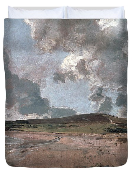 Weymouth Bay With Jordan Hill Duvet Cover by John Constable