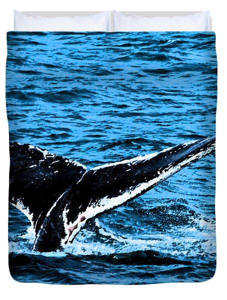 Whale Dip Duvet Cover by Karol  Livote