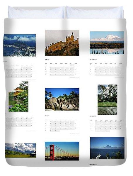 What A Wonderful World Calendar 2012 Duvet Cover by Juergen Weiss