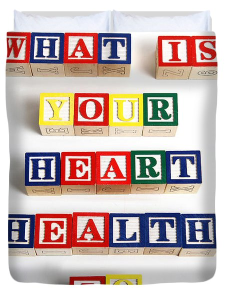 What Is Your Heart Health Iq Duvet Cover by Photo Researchers, Inc.
