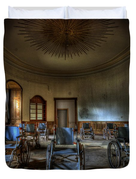 Wheelchairs are us Duvet Cover by Nathan Wright