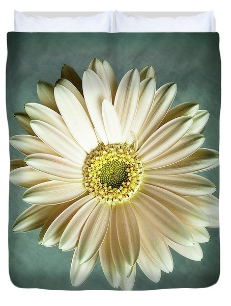 White Daisy Duvet Cover by Tamyra Ayles