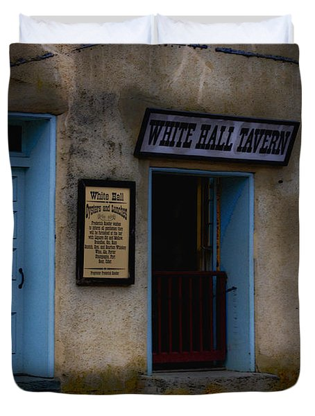 White Hall Tavern Duvet Cover by Ron Jones