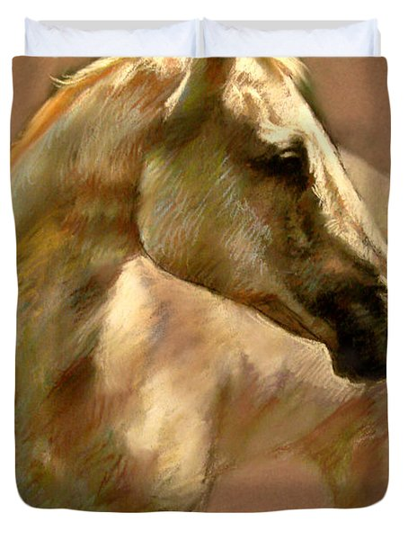 White Horse Duvet Cover by Ylli Haruni