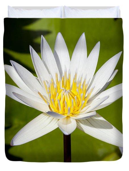 White Lotus Duvet Cover by Kelley King