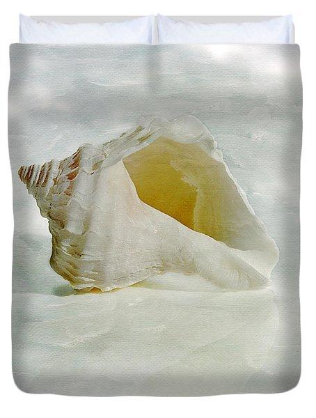 White Seashell Duvet Cover by Cindi Ressler