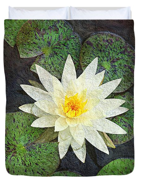 White Water Lily Duvet Cover by Andee Design