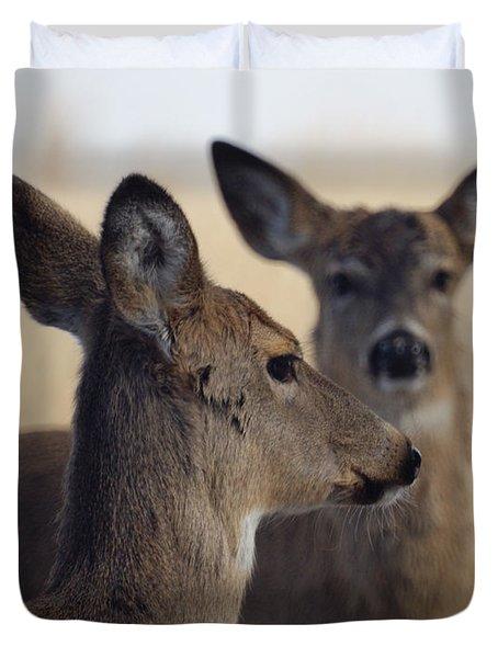 Whitetail Deer Duvet Cover by Ernie Echols