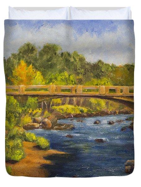 Whitney Crossing Duvet Cover by Jo-Anne Gazo-McKim