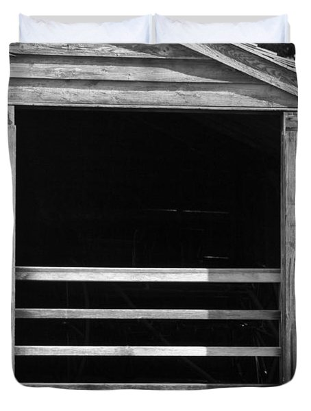 Who Opened The Barn Door Duvet Cover by Teresa Mucha