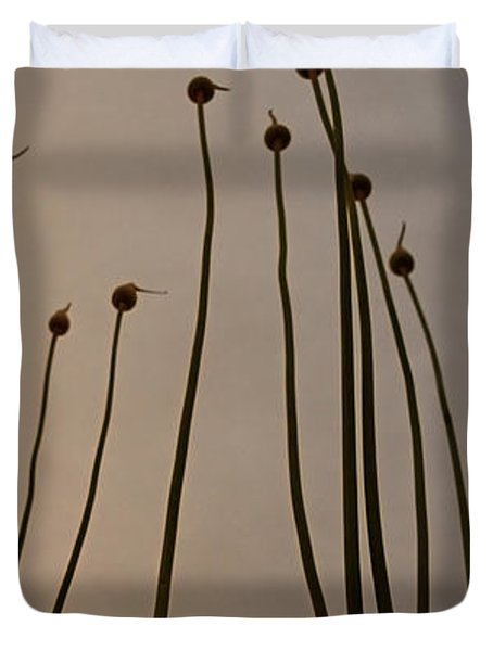 Wild Onions Duvet Cover by Stylianos Kleanthous