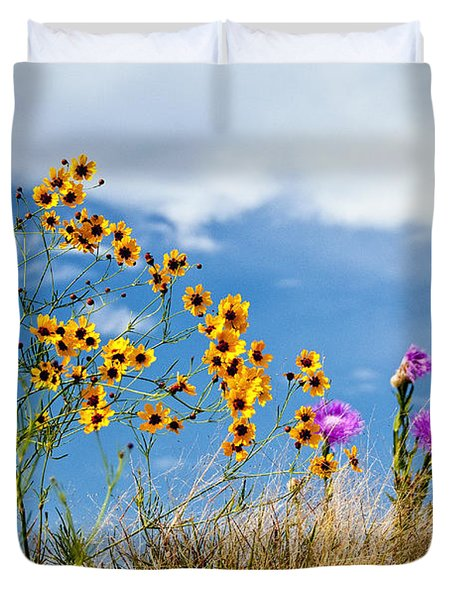 Wildflower Weed Duvet Cover by Tamyra Ayles