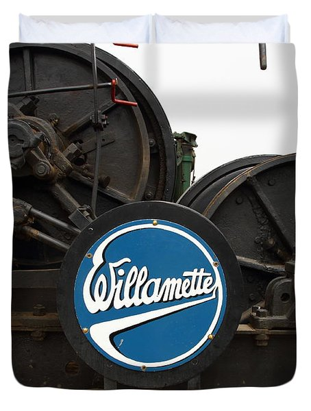 Willamette Steam Engine 7d15104 Duvet Cover by Wingsdomain Art and Photography