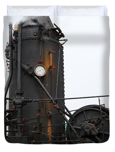 Willamette Steam Engine 7d15105 Duvet Cover by Wingsdomain Art and Photography