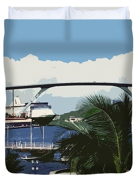 Willemstad - Curacao Duvet Cover by Juergen Weiss