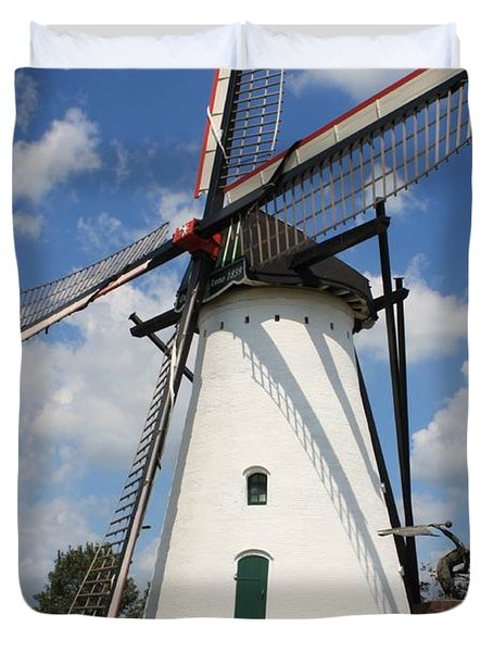 Windmill And Blue Sky Duvet Cover by Carol Groenen