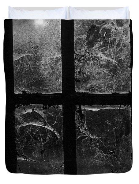 Window At Castle Frankenstein Duvet Cover by Simon Marsden