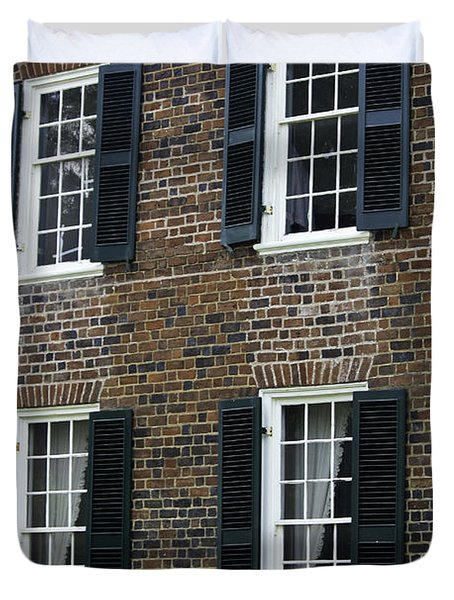 Windows At The Clover Hill Tavern Appomattox Virginia Duvet Cover by Teresa Mucha