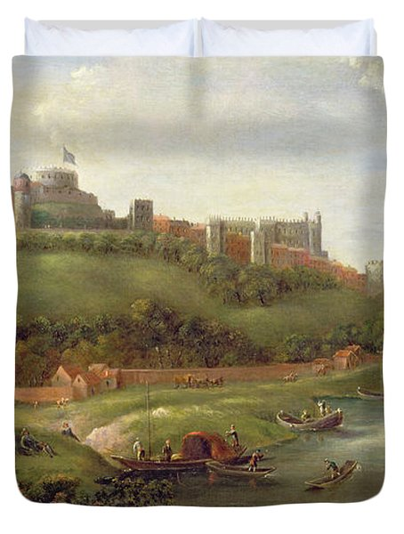 Windsor Castle Duvet Cover by Hendrick Danckerts