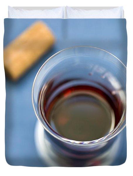 Wine Tasting Duvet Cover by Frank Tschakert