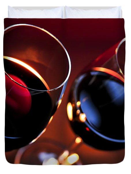 Wineglasses Duvet Cover by Elena Elisseeva