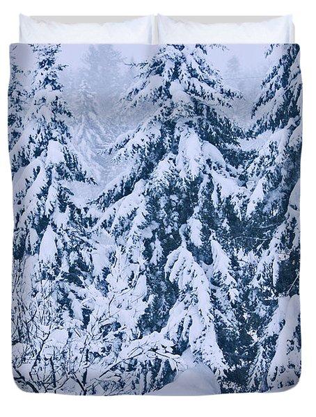 Winter Coat Duvet Cover by Aimelle