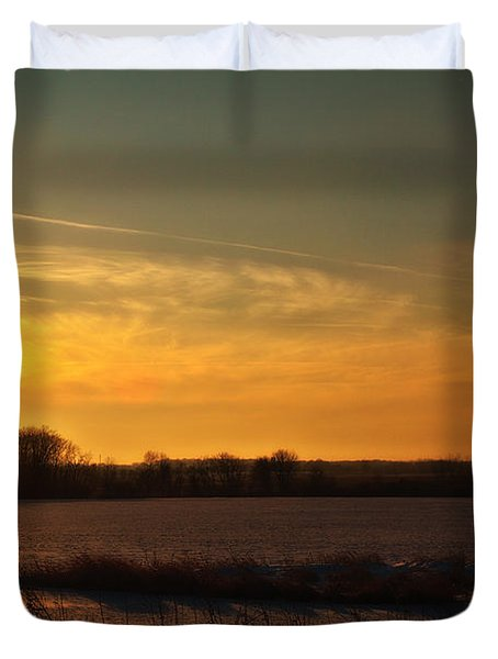 Winter Country Sunset Duvet Cover by Joel Witmeyer