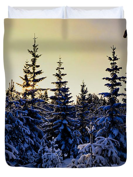 Winter Forest Duvet Cover by Hakon Soreide