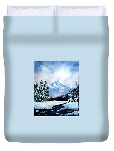 Winter Mountains Duvet Cover by Phyllis Kaltenbach