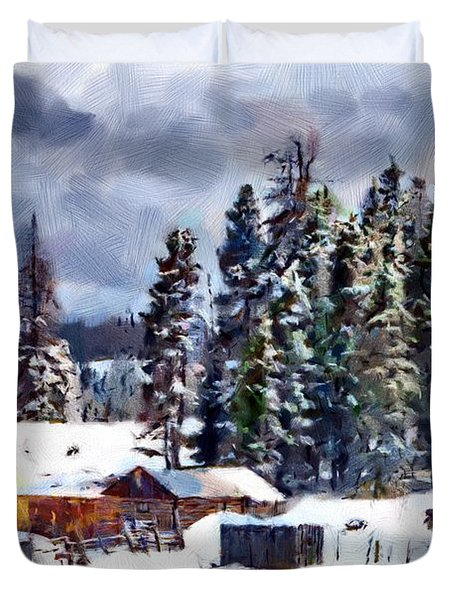 Winter Seclusion Duvet Cover by Jeff Kolker