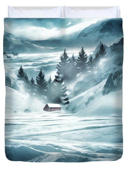 Winter Seclusion Duvet Cover by Lourry Legarde