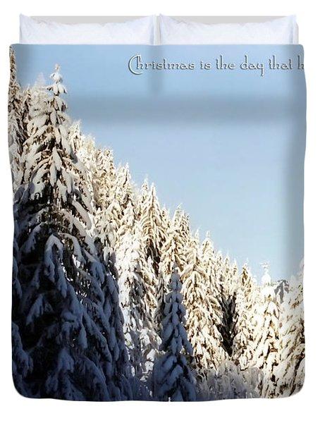 Winter Wonderland Austria Europe Duvet Cover by Sabine Jacobs